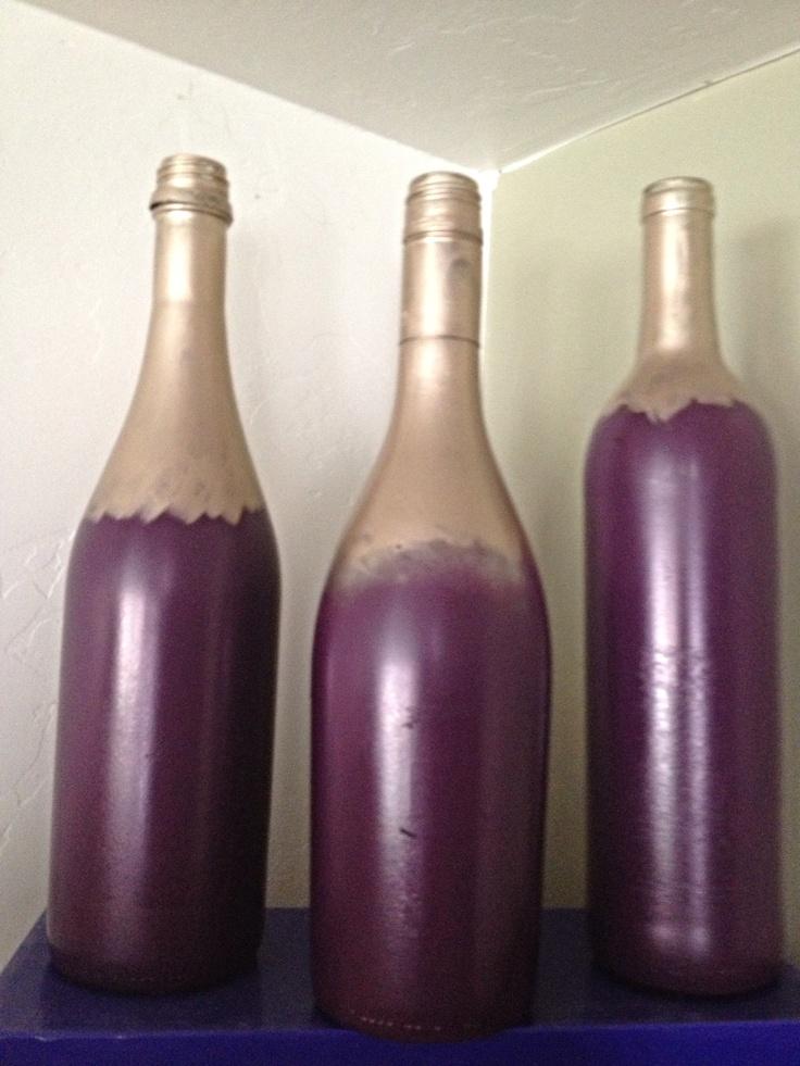 Painted wine bottles diy pinterest for Painted wine bottles