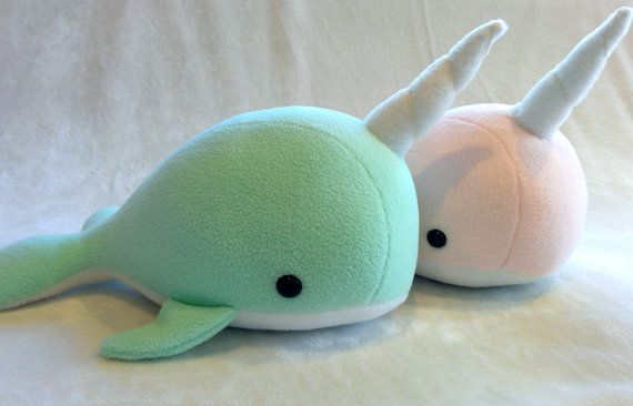 Narwhal Whale Plush toy by ValkyriaCreations on Etsy