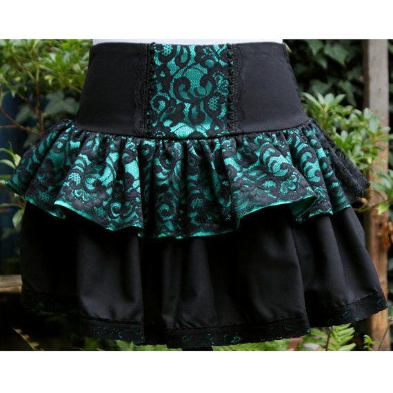Hey, I found this really awesome Etsy listing at https://www.etsy.com/listing/81550808/gothic-lolita-skirt-emerald-green-satin