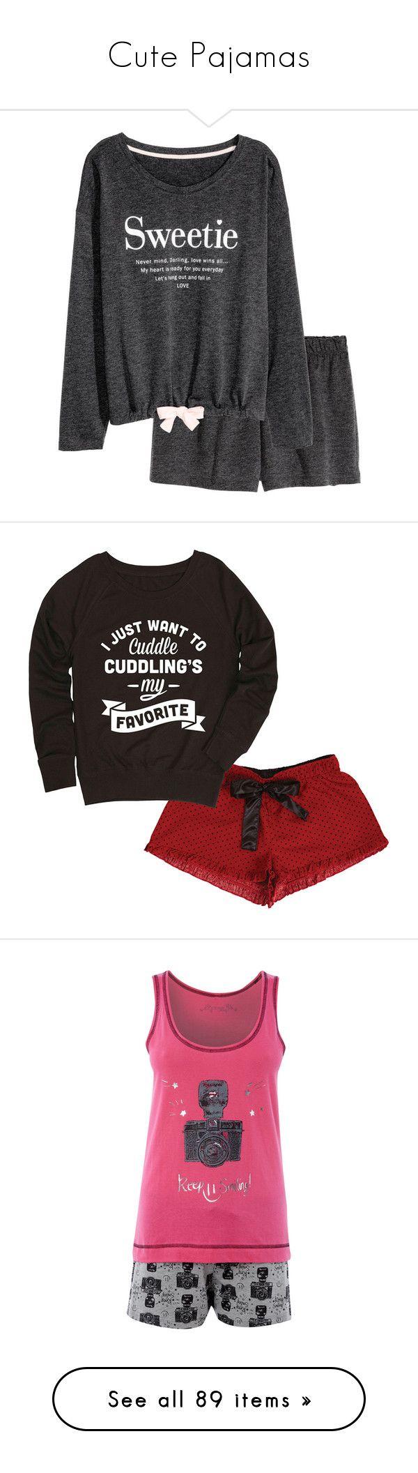 """""""Cute Pajamas"""" by chibi-space-gal ❤ liked on Polyvore featuring shorts, pajamas, intimates, sleepwear, green pajamas, pijamas, pyjamas, salewomensclothing sale, women's clothing and shoes"""