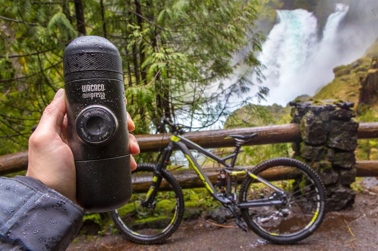Minipresso is the perfect mountain biking companion! Make fresh hot espresso anywhere on the trail whenever you need a little extra energy boost! #espresso #coffee #portableespresso #portablecoffee #espressomaker #espressomachine #giftideasforcoffeelovers #giftideasforcampinglovers #giftideas #giftideasforoutdoorlovers #espressoanywhere #wacaco #minipresso #roadtrip #mountainbiking #oregon #pnw