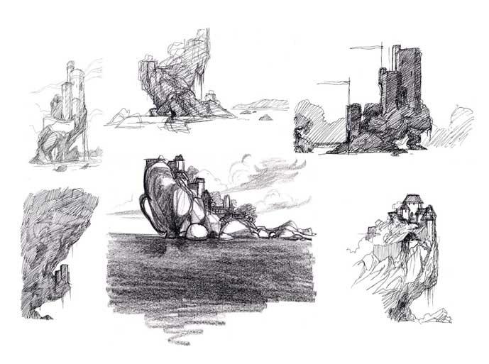 Jennifer Yuan Portfolio - Quest for Camelot development art