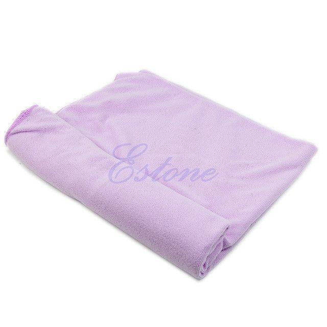 S111 Free Shipping 1Pc 70x140cm Absorbent Microfiber Bath Beach Towel Drying Washcloth Swimwear Shower