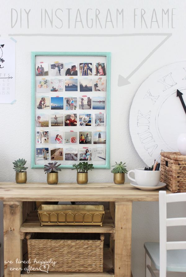DIY Instagram Display // I'd like to do a similar thing with Casper's Polaroids in a frame