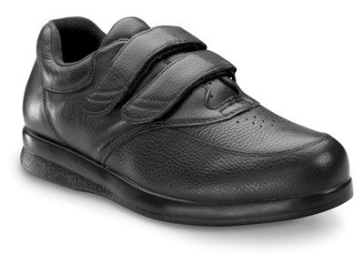 PW Minor Orthopedic Shoes for Men: Leisure Time Velcro Shoes in Black