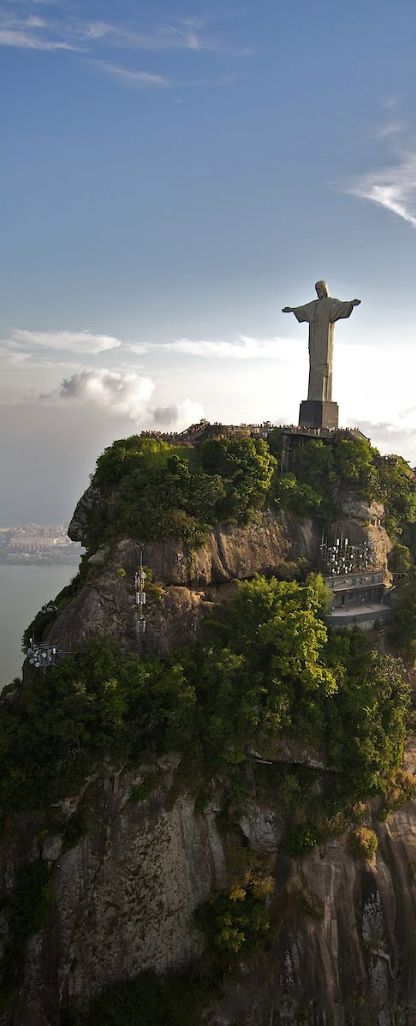 Christ the Redeemer is one of the most famous statues in South America.  Not only is it a beautiful artwork, but its iconic setting over the city is truly impressive.