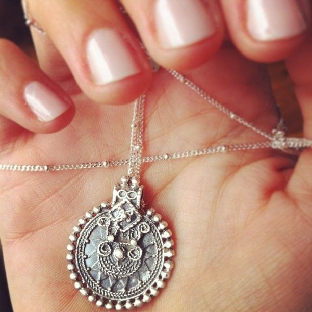 The design of this Silver Mandala Necklace is a symbolic representation of the qualities of the enlightened mind in harmony.