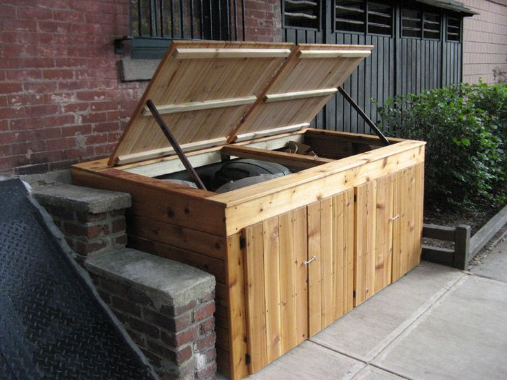Garbage can enclosure - by shopdog @ LumberJocks.com ~ woodworking community