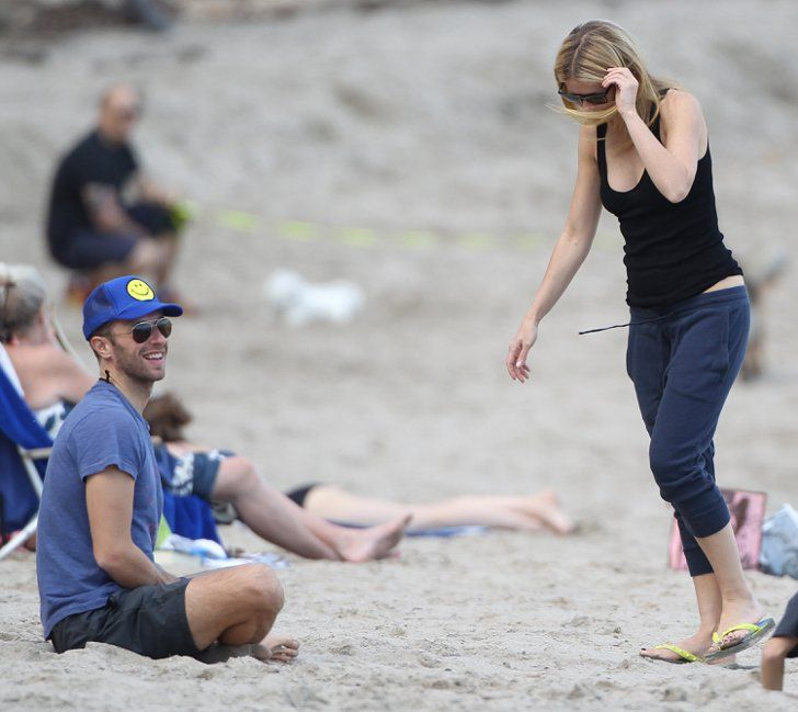 Pin for Later: Gwyneth Paltrow and Chris Martin Meet Up For a Malibu Beach Day