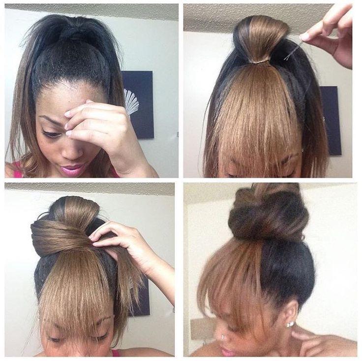 Cute Bun W Quot Bangs Quot Great For Bad Hair Days Hair