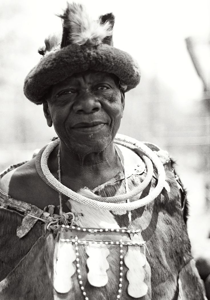 Chief of a Ndebele village in South Africa