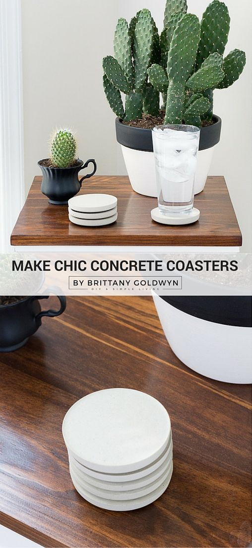 Why pay 40+ for concrete coasters online when you can buy a bag of concrete for $10 at your local hardware store? Learn how to make concrete coasters to add a chic touch to any room in your house.