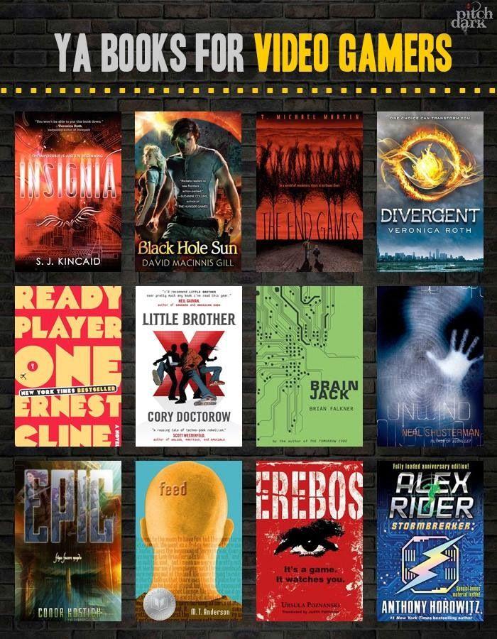 YA Books for Gamers: Libraries Ideas, Books For High Schools Boys, Videos Gamer, Videos Games, Books Worth, Booklistteen Ya, Books Lists, Ya Books, Adult Books