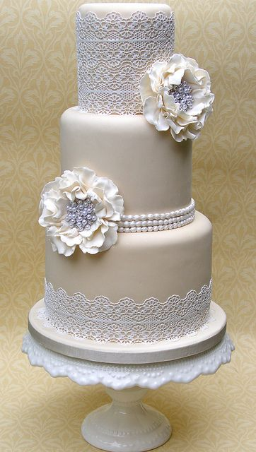 Sugar Lace Wedding cake | Flickr - Photo Sharing!