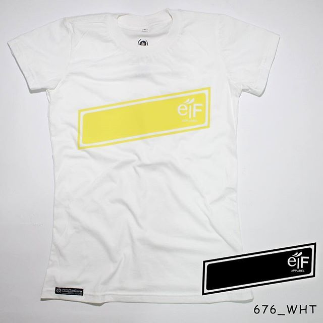 """eiF"". Ladies Tees.  Polyflex Yellow by @eiffashion 