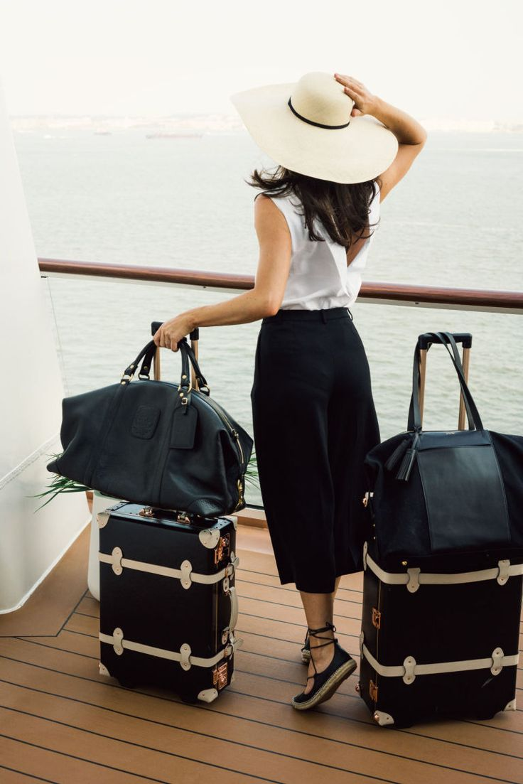 Finding luxury aboard a commercial cruise line: Chic luggage sets always make for a better trip