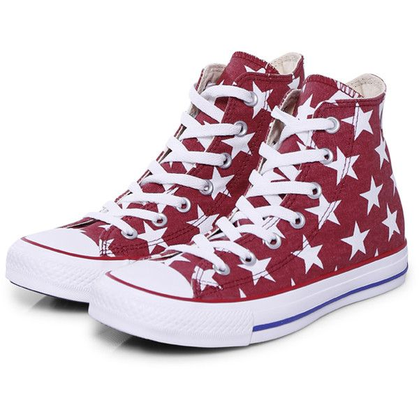 Converse Sneakers Classic Red Stars ($98) ❤ liked on Polyvore