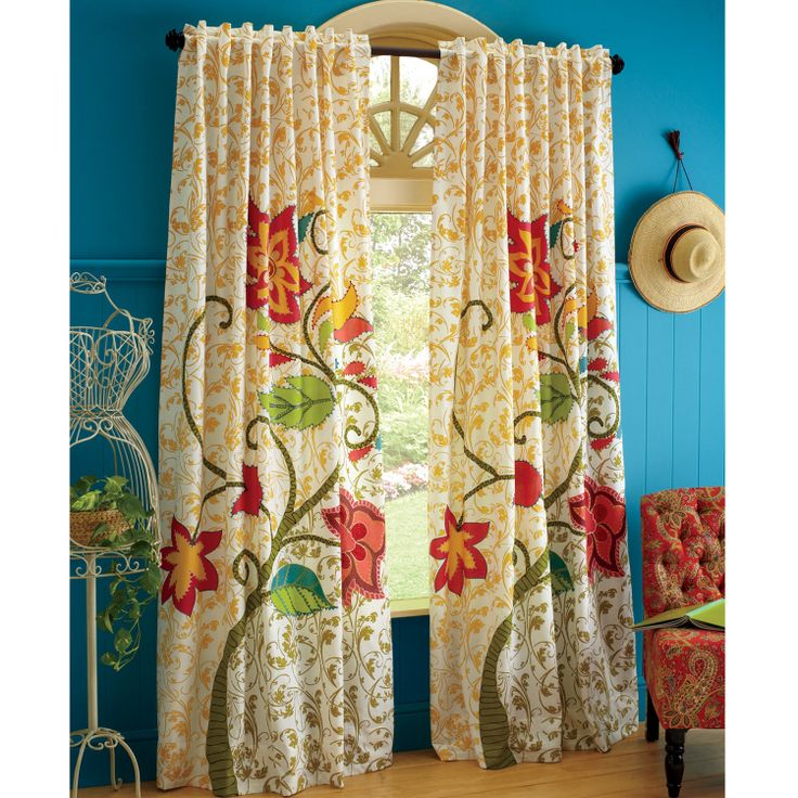 Beautiful Vintage Embroidered Floral Panel From Pier One