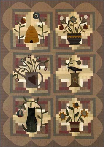 Log Cabin Garden Primitive Quilt Pattern by Jeni Gaston | Woolen Willow Designs