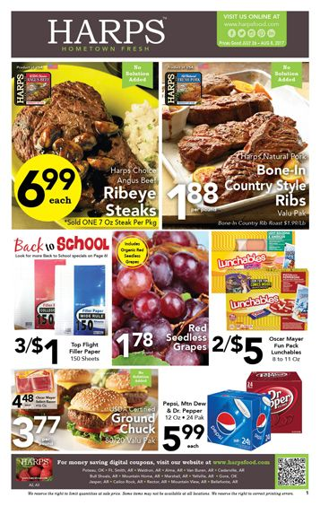Harps Weekly Ad July 26 - August 8, 2017 - http://www.olcatalog.com/grocery/harps-weekly-ad.html