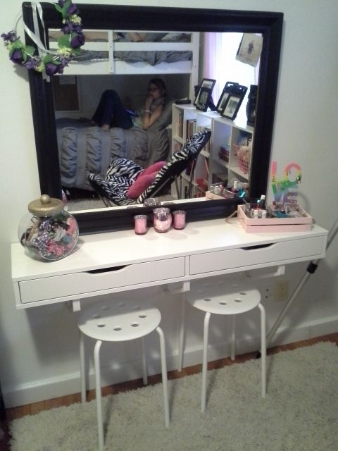Ikea Ekby Alex Used As Vanity For Preteen Bedroom A