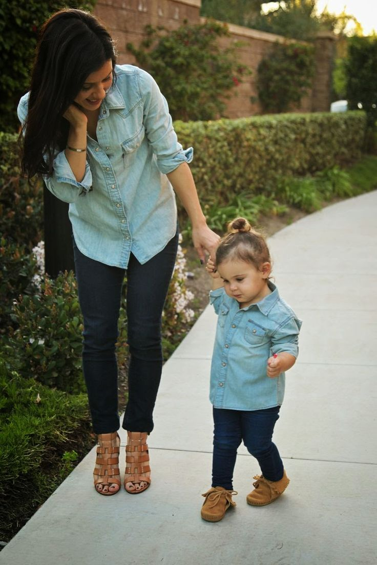 The HONEYBEE: Mommy & me matching Style!  Yeah I will probably be THAT kind of mother