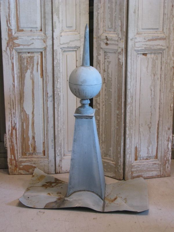 Best Antique French Zinc Roof Finial Country French Antiques In 400 x 300