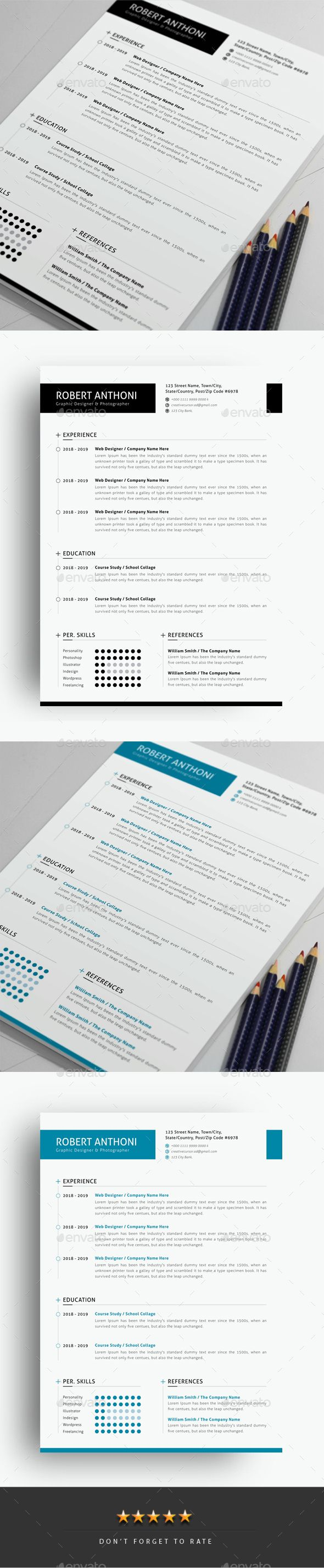 Resume Template Vector EPS