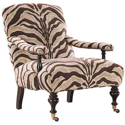 zebra print chair - I love the shape of this chair!