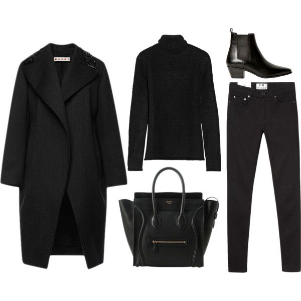 Minimal + Classic. Capsule outfit. Wear. Outfitted. All black head to toe black turtle neck blazer