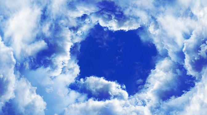 Üç boyutlu Bulutlar Özel baskı duvar kağıdı