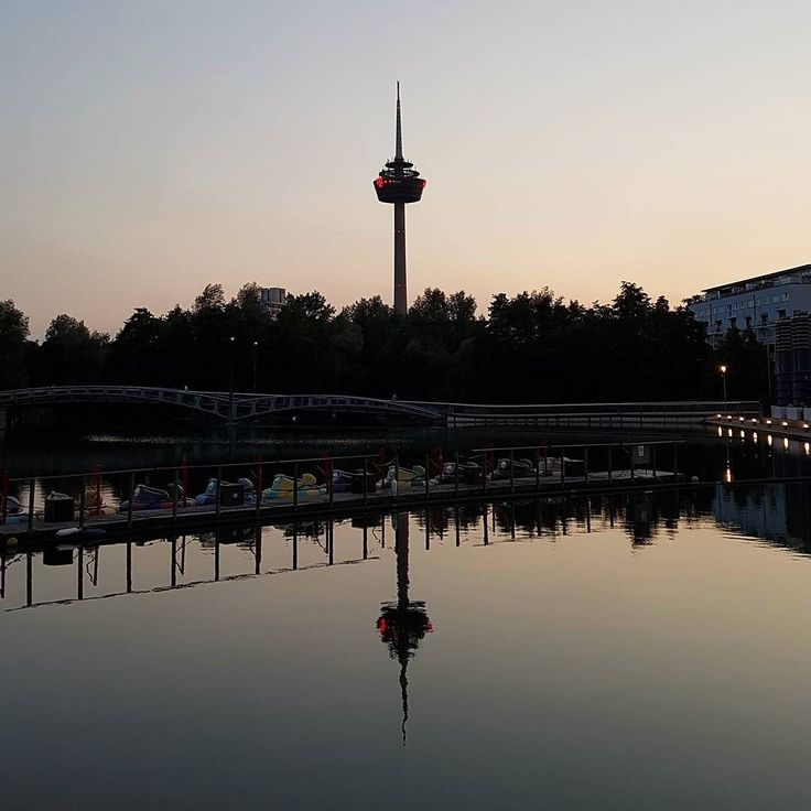 Mirroring #Colonius #Fernsehturm #Mediapark #Teich #Sonnenuntergang #Spiegelung #Sunset #Cologne #CGN #Pond #TelevisionTower