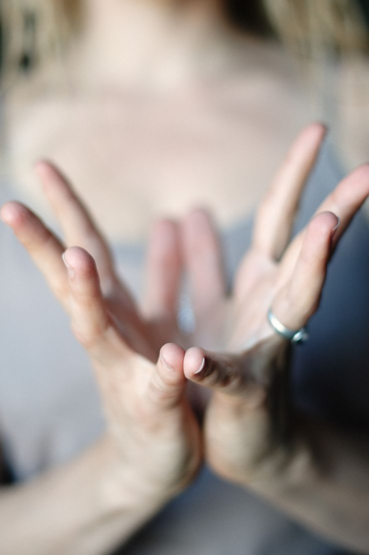 Lotus Mudra: a symbol of purity that helps to open the heart center.