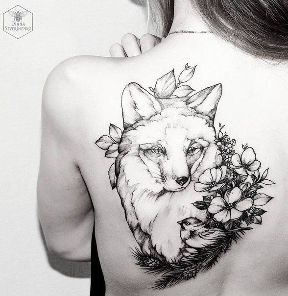 Diana Severinenko Fox Tattoo