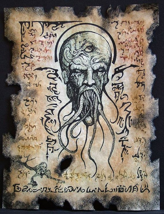 Cthulhu The Mouth of Madness  Necronomicon Black Magick by zarono, $10.00