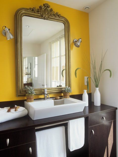 17 best ideas about yellow wall paints on pinterest for Bathroom yellow paint