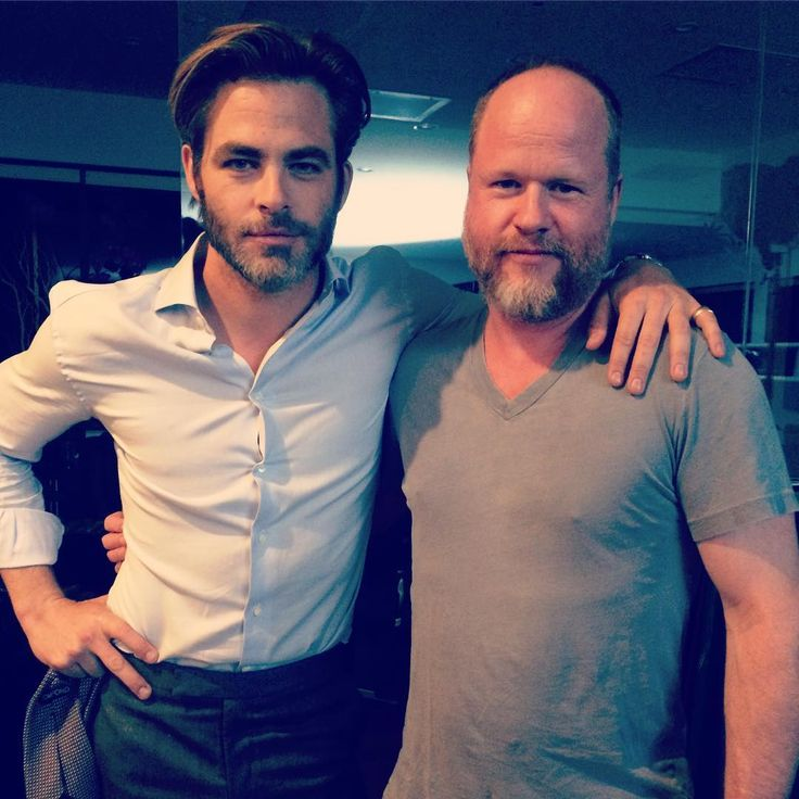 Chris Pine and Joss Whedon on the set of LEONARD. Today is the day! Go #VOTE!