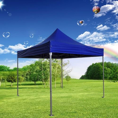 Folding Tent PLITECH STRONG Folding Marquee Gazebo 50mm Aluminium Structure Waterproof Tarpaulin in PVC 520g/m2 3x3m for Professional and Individual Needs for Regular or Intensive Use Blue