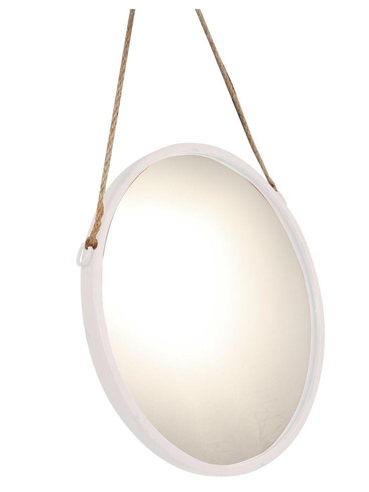 Hanging round mirror - white or black