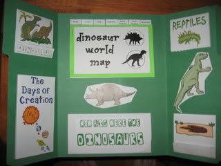Dinosaur Lapbook - http://www.walkingbytheway.com/blog/dinosaur-lapbook/