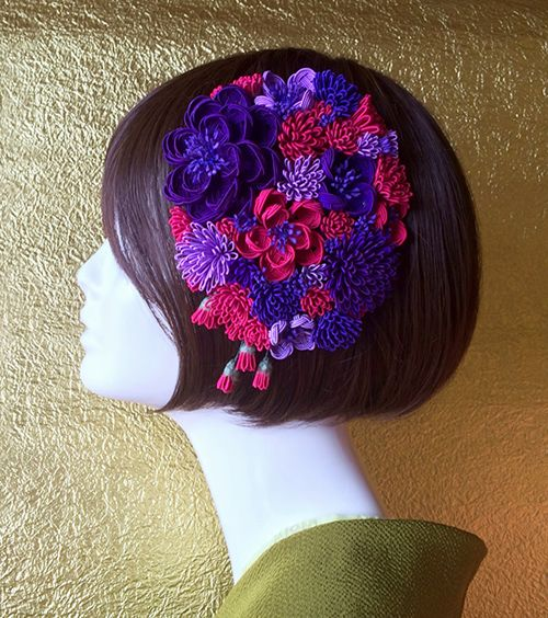 ラフォーレ原宿が着物・振袖イベントを初開催 - オリジナルのテキスタイル振袖や、ヘッドドレスなどの写真8