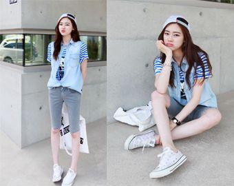 Today's Hot Pick :シャツ風シンプルデニムベスト【NIPONJJUYA】 http://fashionstylep.com/SFSELFAA0007876/righthjp/out オーバーサイズのデザインと爽やかなカラーがおしゃれなベスト。 定番のデニムを使用しており、シャツ感覚でも着こなせる優秀アイテム。 Tシャツを合わせてロックにも、ガーリーなワンピースと合わせて外すコーディネートもおすすめです。 オールシーズン使えるデニムベストは一枚持っていると便利*♪ 身長によって着丈感が異なりますので下記の詳細サイズを参考にしてください。 ◆色: ライトブルー/ダークブルー