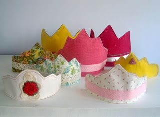 sewing tutorial , fabric dress up play crowns.