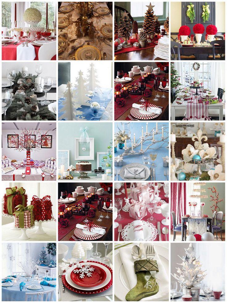 Christmas table decorating | Christmas Ideas | Pinterest
