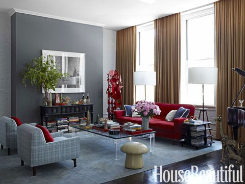 142 best images about paint it gray on pinterest grey walls paint colors and grey - Gray and red living room ideas ...