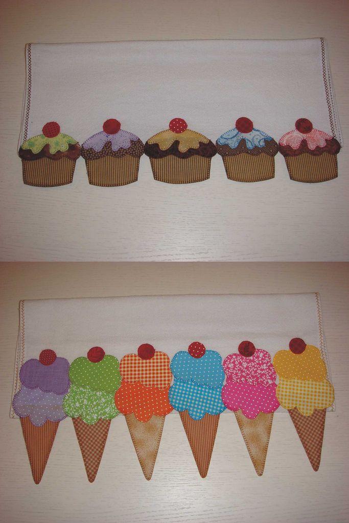 panos de prato   tortinhas - sorvetes   pano & arte   Flickr
