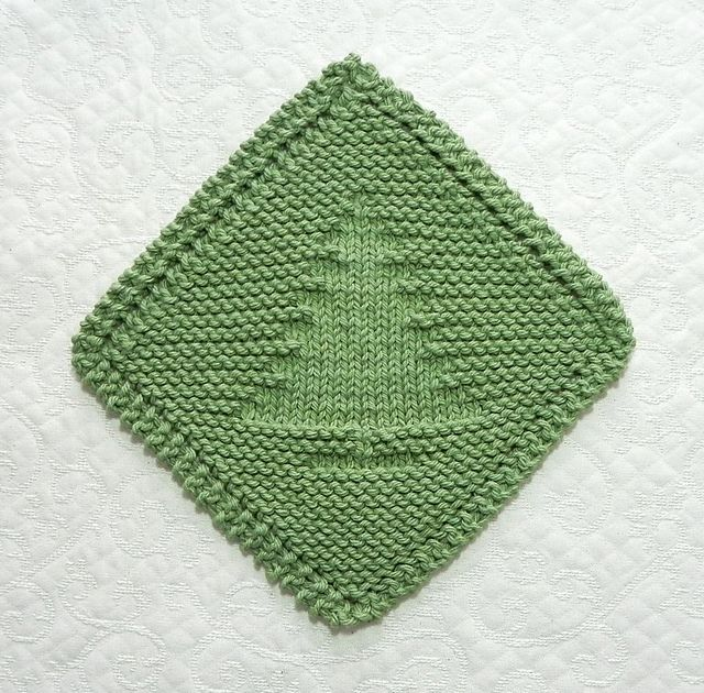 Ravelry: Christmas Tree Diagonal Dishcloth pattern by Aunt Susan