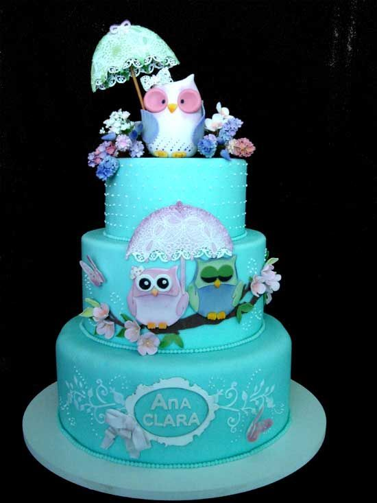 owl cake - I would totally take this for my birthday ^_^