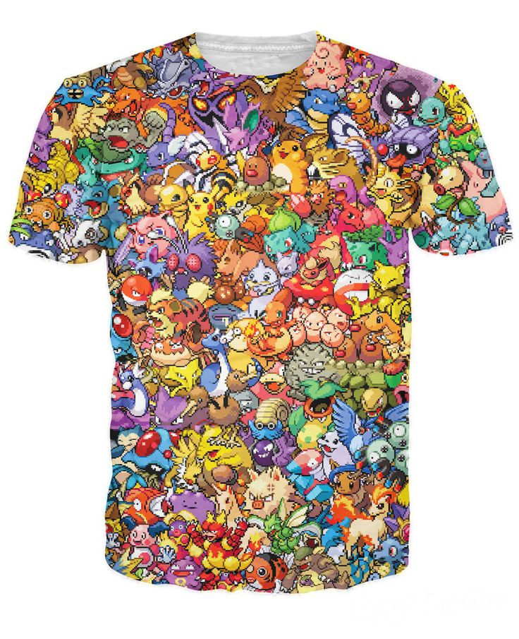 >> Click to Buy << Women Men 3d Tops Original 150 Pokemon 8-Bit Collage T-Shirt 90s Video Game And Anime 3d Printed T Shirt Characters Cartoon tee #Affiliate