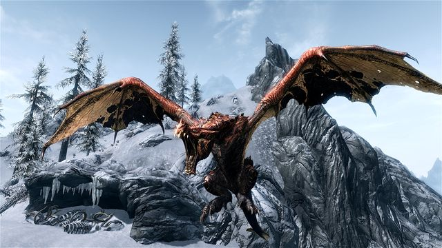 Image result for skyrim elder dragon